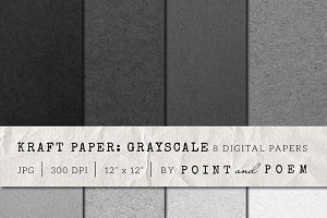 Kraft Paper Texture Grayscale