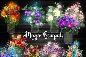 Magic Bouquets Clipart