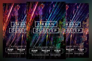 Urban Dubstep Club Flyer