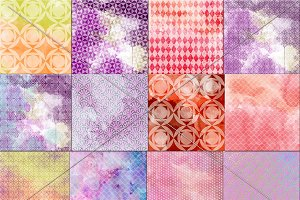 Watercolour geometric papers