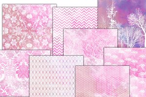 Rose pink texture papers