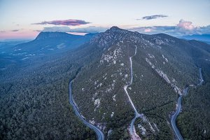 Aerial panorama of Mount Roland