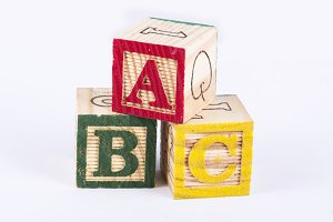 Alphabets with Wooden Blocks