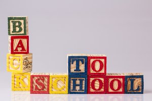 Back to School Word with Blocks