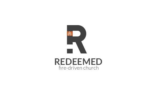 redeemed fire church logo logo templates creative market
