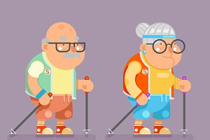 Grandfather Granny Active Lifestyle