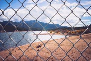 Fenced Beautiful Mountain Landscape