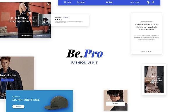 Bepro Fashion Ui Kit Web Elements Creative Market
