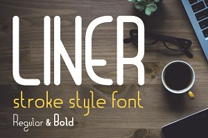 Liner| font for logos with frames