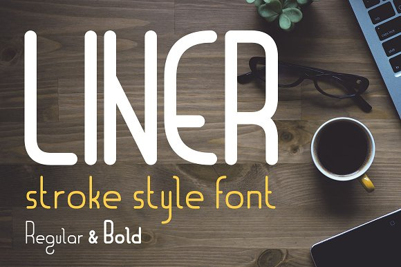 Liner Font For Logos With Frames