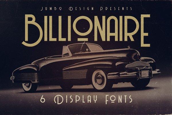 Billionaire - Display Font