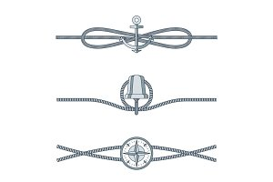 Rope Knots Collection with Decorative Elements