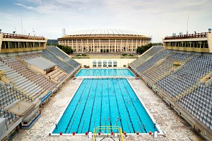 The old sports swimming pool