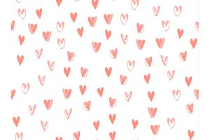 Hearts love background  pattern