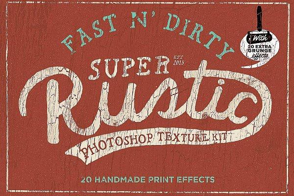 Rustic photoshop texture kit