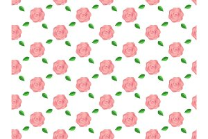 Flowers pink roses pattern seamless