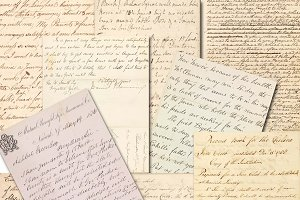 Old letters handwriting papers