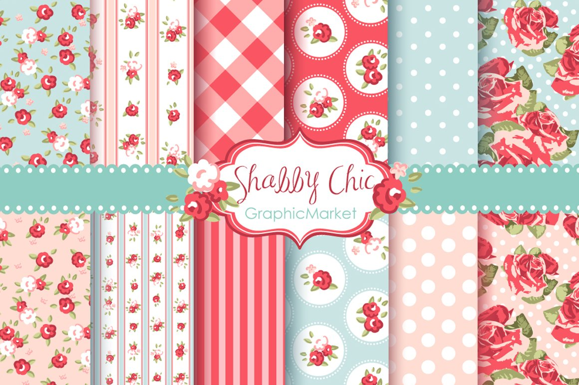 Shabby Chic Rose Digital. Shabby chic background Photos  Graphics  Fonts  Themes  Templates