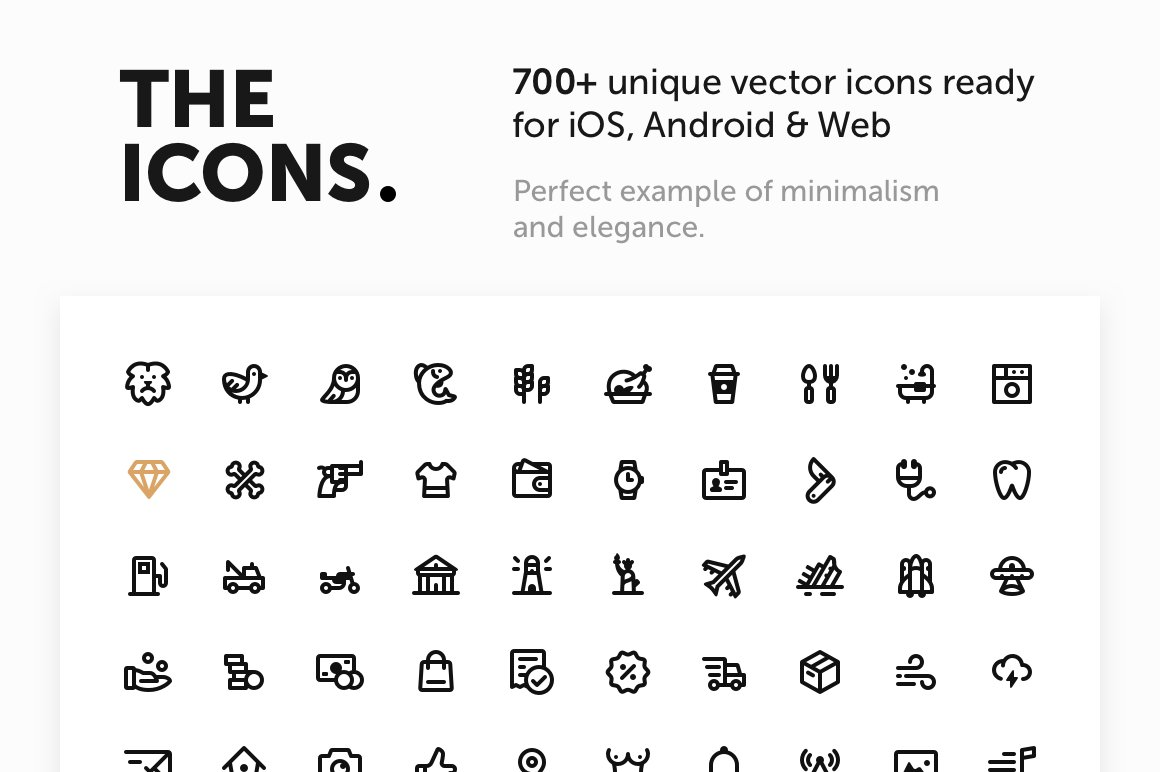 Simple Line Icons Pro Icons Creative Market