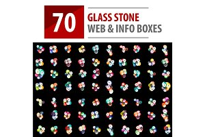 Mega collection of glass stones