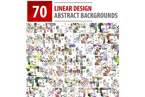 Mega collection of linear design backgrounds