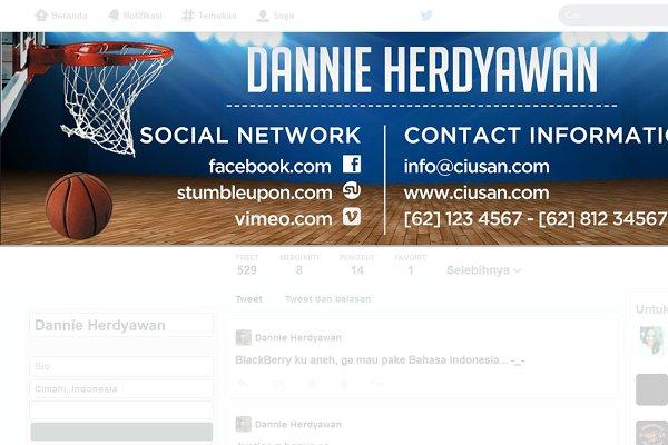 Twitter Templates: Ciusan - Basketball Twitter Header
