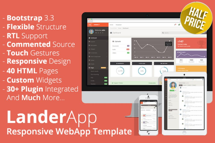 LanderApp - Responsive WebApp ~ Bootstrap Themes ~ Creative