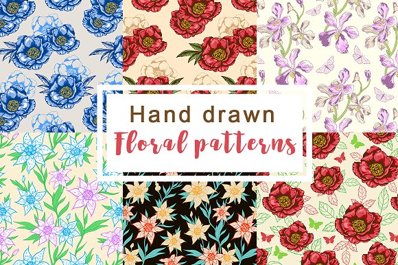 Hand Drawn Floral Patterns