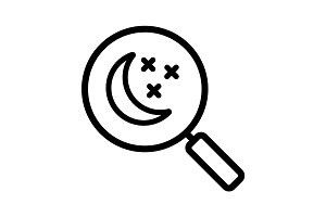 Place to sleep search linear icon