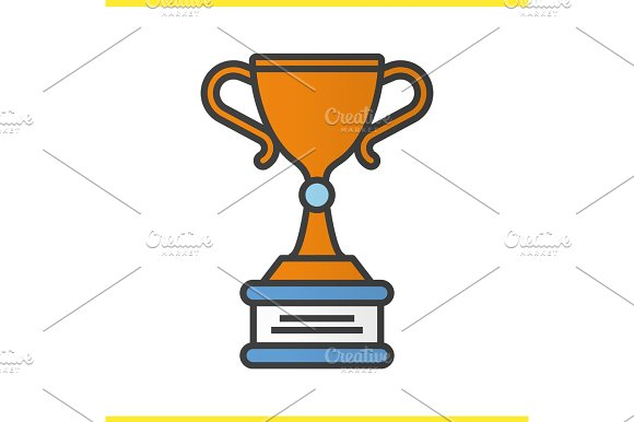 Winner's Trophy Cup Color Icon