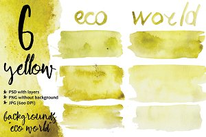 watercolor yellow backgrounds