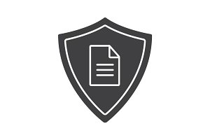 Personal document security glyph icon