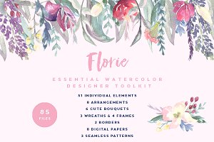 Florie Watercolor Design Kit
