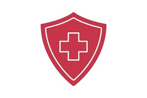 Medical insurance glyph color icon