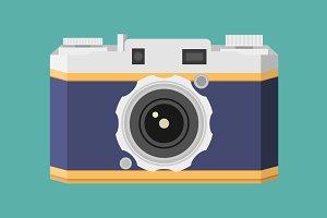 Retro Camera flat style