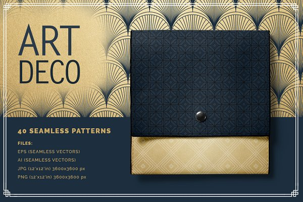 Art Deco Seamless Patterns