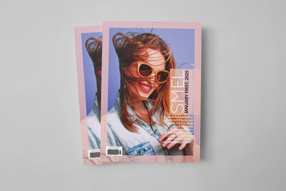 Smel - Magazine Cover Template in Magazine Templates - product preview 1