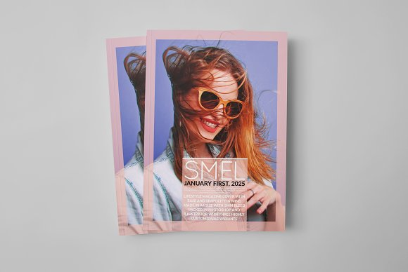 Smel - Magazine Cover Template in Magazine Templates - product preview 2