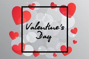 Valentine's Day black frame hearts
