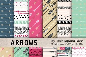 Aztec arrows digital papers