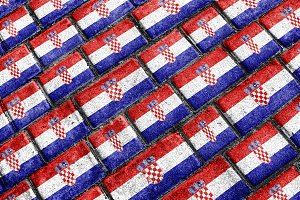 Croatia Flag Grunge Pattern