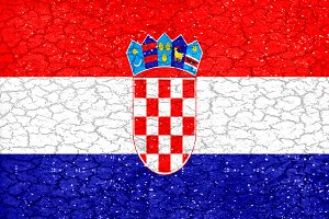 Croatia Grunge Style National Flag