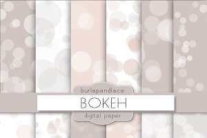 Bokeh digital paper