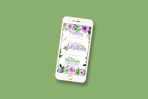 Flowered Digital Invitation Template