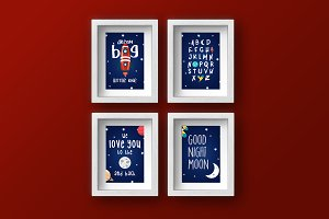 Universe Baby Room 4 Pack Posters