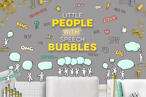 People with Speech Bubbles