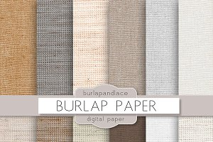 Burlap/linen digital paper