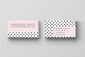 Pink Dotted Business Card