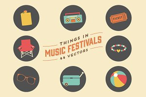 Things in Music Festivals-44 Vectors