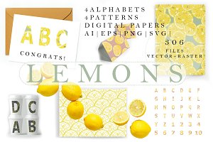 Lemons alphabets, patterns & papers